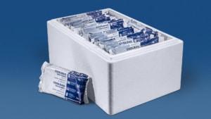 25 kg Trockeneis Coolbags in der Styropor-Thermobox