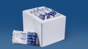9 kg Trockeneis Coolbags in der Styropor-Thermobox