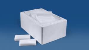 28 kg Trockeneis Scheiben in der Styropor-Thermobox