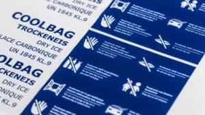 Trockeneis Coolbags 22 kg mit Sicherheitshinweisen