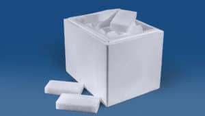 Trockeneis Scheiben 22 kg in der Thermobox