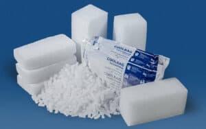 Trockeneis Shop Produkte bestellen: Trockeneis Nuggets, Coolbags, Blöcke, Scheiben und Pellets